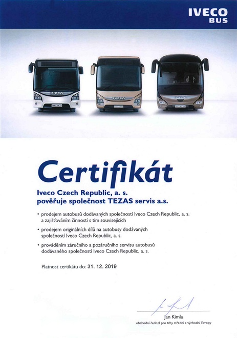 Dealer certificate IVECO Bus